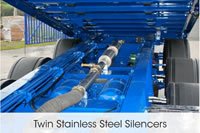 Twin Stainless Steel Silencers